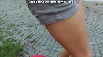 Sexy blonde picked on a embankment and fucked publicly thumbnail