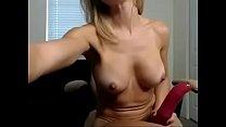 Sexy Blonde Office Masturbation