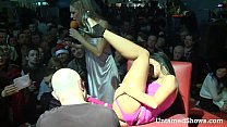 Slutty stripper going wild at the sex show