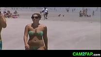 Hot Teen Beach Voyeur Jiggly Tits