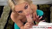 FirstClassPOV - Sarah Vandella sucking a big dick, big boobs & big booty