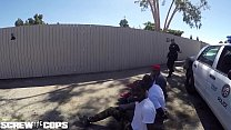 Screw the Cops - white female cop fucked by three BBC - 9Club.Top