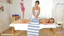 Magic massage - lesbian scene with Ally Breelsen and Lydia Lust by SapphiX Preview