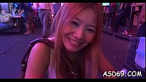 Asian whore gets tempted and banged rough by some fellow Thumbnail