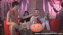 Halloween home sex party Dania, Amber Daikiri
