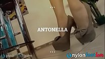 Teen Takes Off Her High Heels And Shows Feet In