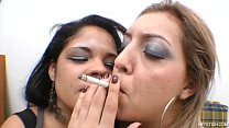 Smoking And Kiss    Wet Unstoppable Tongues And