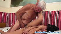 Screenshot Amateur Teen Spoon Fucked By Lucky Grandpa