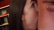 Brunette Long Hair Lady Lick And Fuck By Her Scourt image