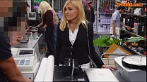 Sexy blonde milf pounded in the backroom with p...