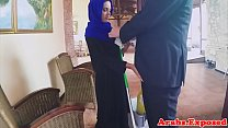 Arabic babe gets doggystyled for cash