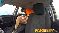 Fake Driving School squirting big tits milf gets creampie in her gaping pussy thumbnail