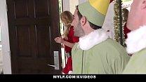 MYLF - Big Tits Blonde Milf Takes Turns Fucking Her Stepsons On Christmas - 69VClub.Com