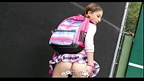 Tiny4K - School girl Kristen Scott fucks hunk D...
