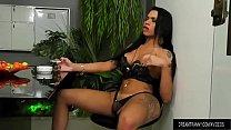 Smoking Tranny Bianca Reis Masturbates and Sticks a Dildo Up Her Ass - download porn videos