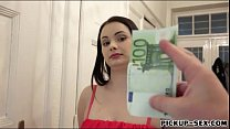 Hot Eurobabe gets pussy fucked for money