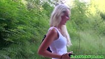Picked up flashing babe shows creampie thumbnail