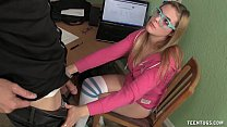 Blonde Teen Handjob