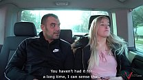Stupid young blonde belive fake taxi came for her & let stranger fuck her raw Preview