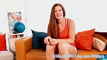 Tall Ginger Ivy Gets fucked in Ass For First Time! thumbnail