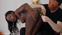 Anal Trick or Treating -- bubble butt ebony eat... Thumbnail