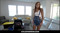 Hot Teen Step Sister Scarlett Mae And Her Step Brother Play Now That They Have Their Own Place POV thumbnail