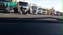 seance photo avec routier