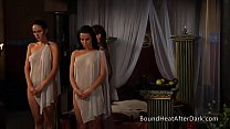 Free download video bokep Lesbian Slave's Revenge: Standing And Waiting F...