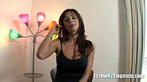 Lusty cougar seduces her stepson and gets screwed hard
