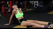 Sexy Black Girl Julie Kay Workout Fuck image