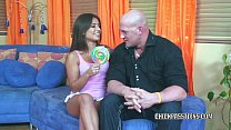 Petite brunette Jynx Maze gets pounded hard