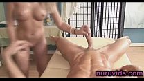 Gorgeous blonde sucking huge dick