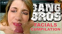 BANGBROS - Epic Facial Fest Cum Shot Compilation! Preston Parker Jizzing On Over 40 Faces #pancakes