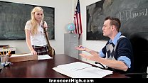 InnocentHigh - Blonde Schoolgirl Fucked Hard By Her Prof preview image