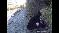 Chubby amateur flashers outdoor masturbation an... Thumbnail