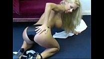 Petra Black satin panties strip.