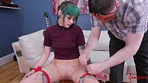 Hot punk girl with bubble-butt gets a hard anal punishment Preview