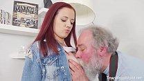 Old-n-Young.com - Tiffani Love - Old man shoots hottie in sperm صورة