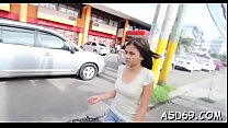 Hot asian sweetheart favors her guy with a perfect ride