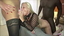Kacy Kisha German TS and Huge Black Cock in Threesome Fuck
