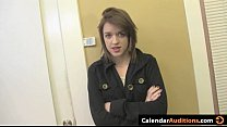 Cute Amateur Teen at Calendar Audition
