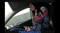 PublicAgent Natalie has huge boobs and is fucked on the backseat pornhub video