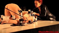 Redhead bdsm lezdom bondage punishes sub pornhub video