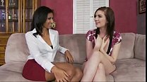 black couple seduces an lovely babysitter.SIF