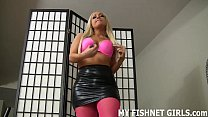 Get your cock hard for my hot pink fishnets JOI