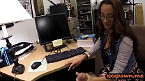 College girl drilled by nasty pawn dude