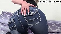 Jerk your cock to me in my skin tight jeans JOI