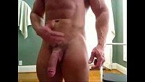 Massive Str8 bodybuilder flexing & huge cock - hotguycams.com video