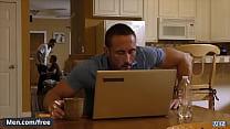Men.com - (Cliff Jensen, Damien Kyle, Myles Landon) - Coffee Time - Drill My Hole - Trailer preview