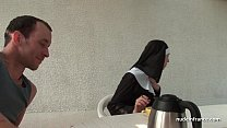 18120 Young french nun fucked hard in threesome with Papy Voyeur preview